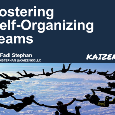 Fostering Self-Organizing Teams Presentation