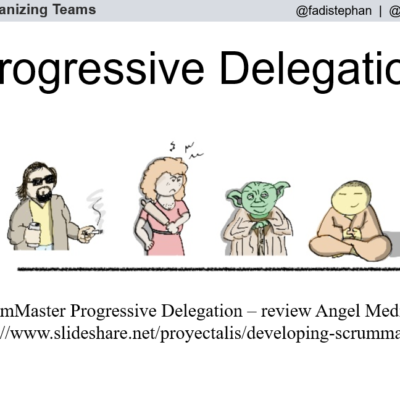 The ScrumMaster's Progressive Delegation Responsibility