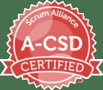 Badge for Scrum Alliance Advanced Certified Scrum Developer A-CSD